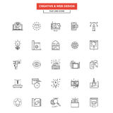 Flat Line Icons- Web design Royalty Free Stock Images