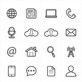 Flat Line Icons For Web Icons and Internet Icons Vector Illustration Stock Images