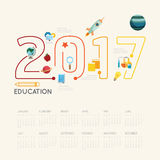 Flat line Infographic Education 2017 concept.Vector Illustration.  Royalty Free Stock Photo