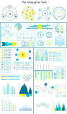 Flat line infographics Royalty Free Stock Images