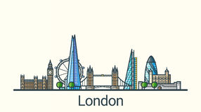 Flat line London banner Royalty Free Stock Images