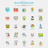 Flat Line Modern Color icons Stock Image