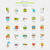 Flat Line Modern Color icons Stock Photos