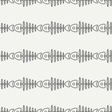 Flat line monochrome vector seamless pattern ocean fish bone, skeleton. Simplified retro. Childish cartoon style. Skull. Sea doodle art. Background Stock Image