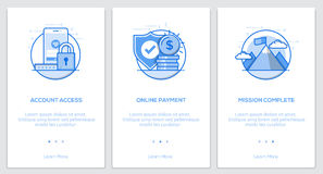 Flat line Onboarding Concepts Royalty Free Stock Photo