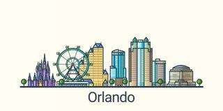 Flat line Orlando banner Stock Image