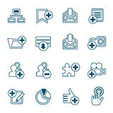 Flat line web icons set Royalty Free Stock Photos