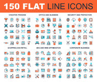 Flat Line Web Icons Royalty Free Stock Images