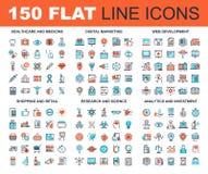 Flat Line Web Icons Stock Photo