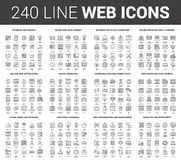 Flat Line Web Icons Royalty Free Stock Photography