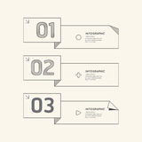 Flat linear Infographic Number Banner Outline Concept.Vector. Royalty Free Stock Photography