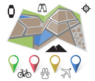 Flat location icon Stock Photography