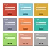 Flat login form - flat UI Stock Photos