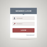 Flat login form Royalty Free Stock Photo