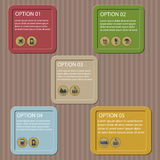 Flat logistic infographic template Stock Images