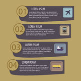 Flat logistic infographic template Royalty Free Stock Images