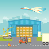 Flat logisticequipment and delivery service Royalty Free Stock Photo