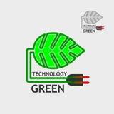 Flat logo, business logo, eco-logo, symbol -  tree, color green, Stock Photo