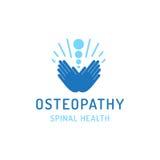 Flat logo osteopathy Royalty Free Stock Image