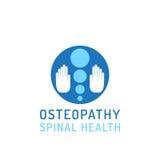 Flat logo osteopathy Stock Photography
