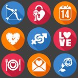 Flat Love Icons Royalty Free Stock Images
