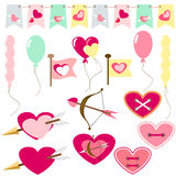 Flat love icons Stock Image