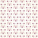 Flat Love Valentine`s day pattern stock images
