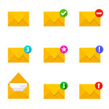 Flat mail icon Stock Image