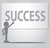 Flat Man Success Concept Stock Photography