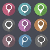Flat Map Markers Royalty Free Stock Images