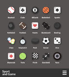 Flat material design icons set Stock Photography