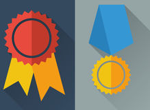 Flat medals. Wc flat design icons set royalty free illustration