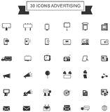 Flat media advertising or digital internet marketing icon Royalty Free Stock Photo