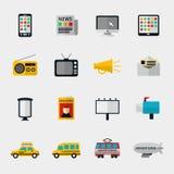 Flat media icons Stock Image