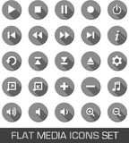 Flat media icons with shadow Stock Photos