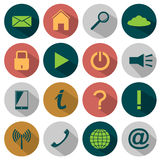 Flat Media icons Royalty Free Stock Image