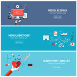 Flat medical banners Royalty Free Stock Image