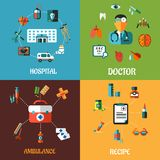 Flat medical concept designs Royalty Free Stock Photography