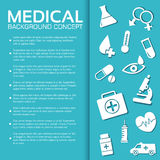 Flat medical equipment set icons concept Royalty Free Stock Image