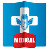 Flat medical icon set Stock Photo