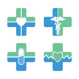 Flat medical icon set Royalty Free Stock Photography