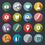 Flat medical icons. Vector Illustration Royalty Free Stock Images