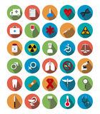 Flat medical icons with shadow. Illustration of flat medical icons with shadow Royalty Free Stock Photo