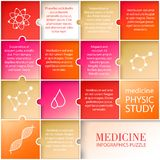 Flat medicine infographic design. Royalty Free Stock Images
