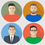 Flat men icons Royalty Free Stock Image