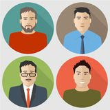 Flat men icons Stock Photo