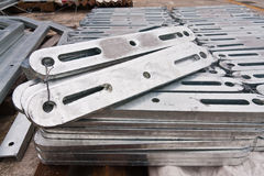 Flat metal bar stack in group Stock Photography