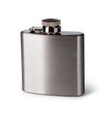 Flat metal flask Stock Photography