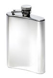 Flat metal flask. On white background Royalty Free Stock Images