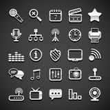 Flat metallic universal icons Royalty Free Stock Image